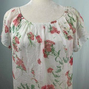 Luisa Ricci Italy Off The Shoulder Blouse S Silk